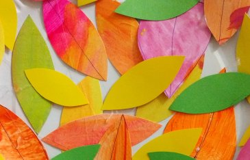 Осеннее дерево из картонной тарелки