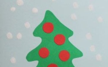 Make a Christmas Tree Card with your Kid!