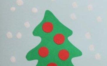 Новогодняя открытка руками ребёнка
