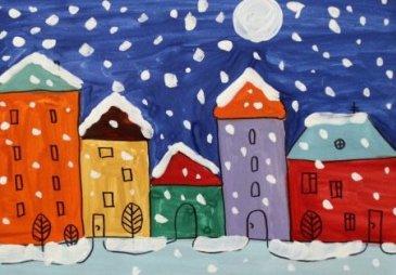 Снегопад в городе