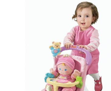 Offer your baby to play with a doll stroller