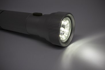 Playing with a flashlight