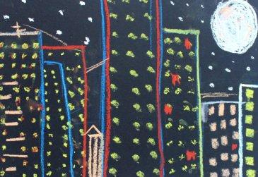 Нарисуйте ночной город