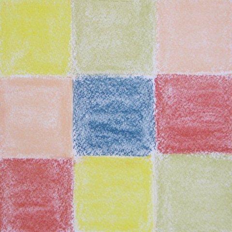 клетчатый плед пастелью этап 3
