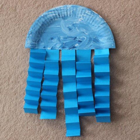 Картинка к занятию Сделайте медузу из бумаги в Wachanga