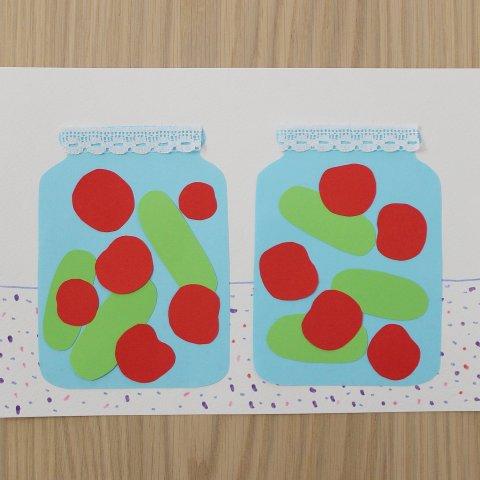 как сделать вместе с ребенком аппликацию из цветной бумаги заготовки на зиму