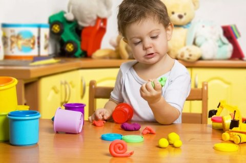 Show you little one how to use modeling clay