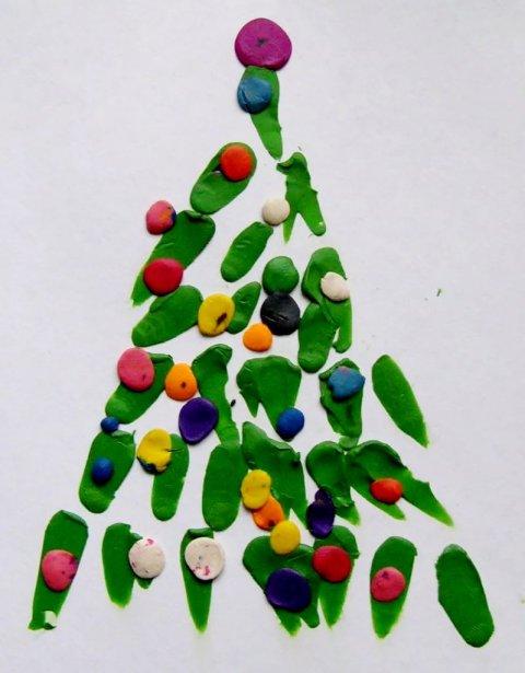 Картинка к занятию Новогодняя ёлочка в Wachanga