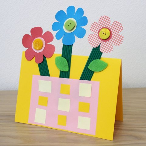 как сделать открытку на 8 марта из бумаги вместе с ребенком