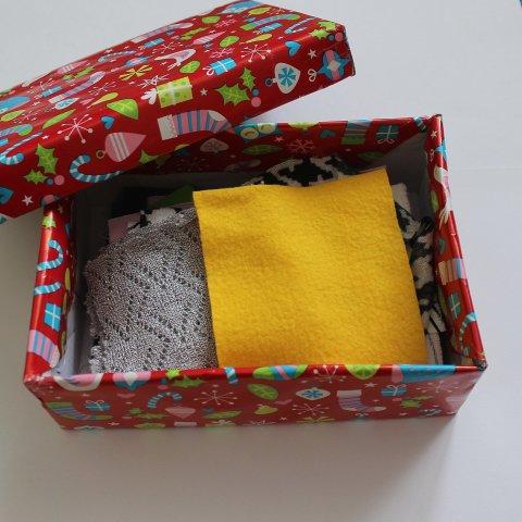 Сделайте коробочку с тканями
