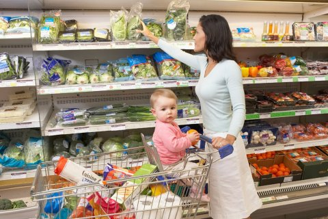 Take your baby to the supermarket