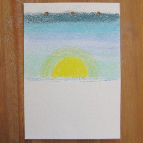 как нарисовать море пастелью этап 3