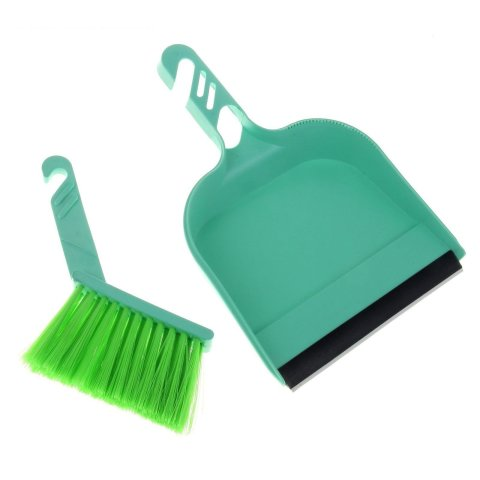 Teach your kid to use a dustpan and a broom