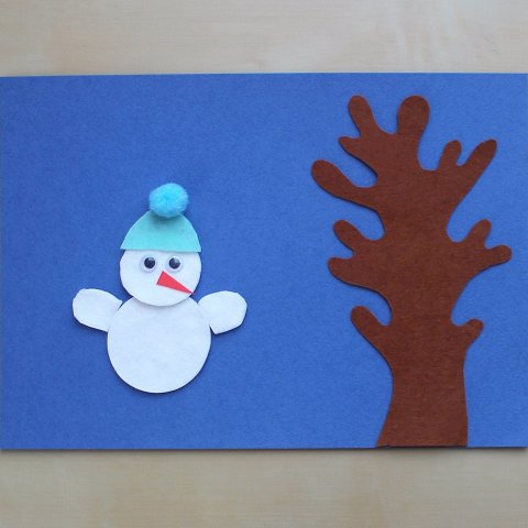 "Activity picture for Applique ""The Snowman"" in Wachanga"