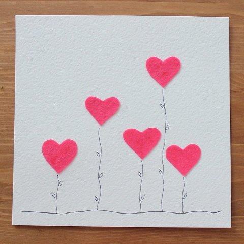 открытка с сердечками
