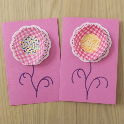 Make pretty cards with your kid