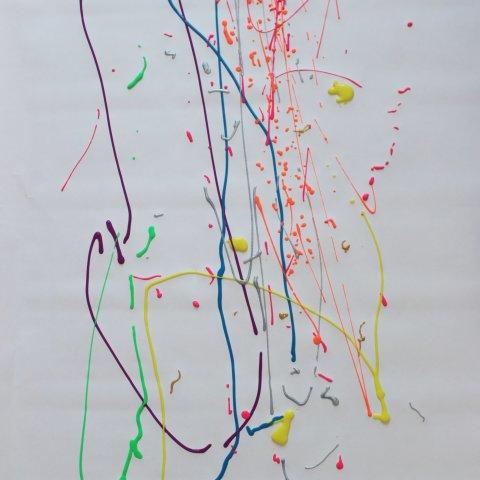 приготовление к необычному способу рисования ребенок