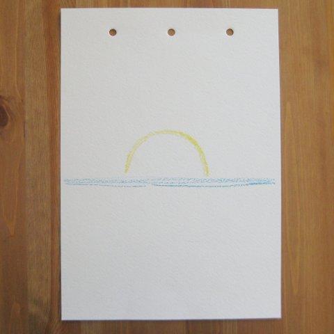 как нарисовать море пастелью этап 1