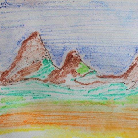 Картинка к занятию Порисуйте вместе акварельными карандашами по мокрой бумаге в Wachanga