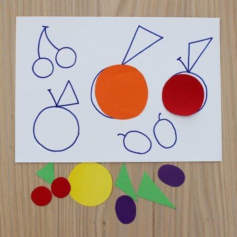 "Geometric applique ""The Fruit"""