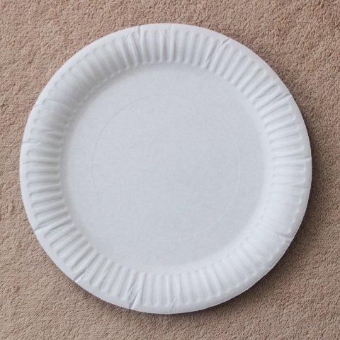 картонная тарелка для поделки