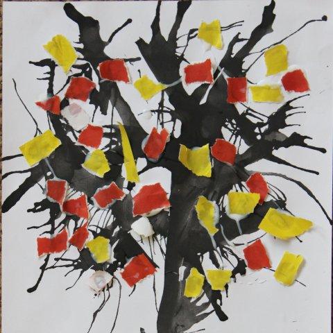 Paint autumn trees!