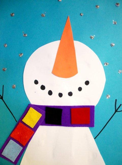 Картинка к занятию Весёлый снеговик в Wachanga