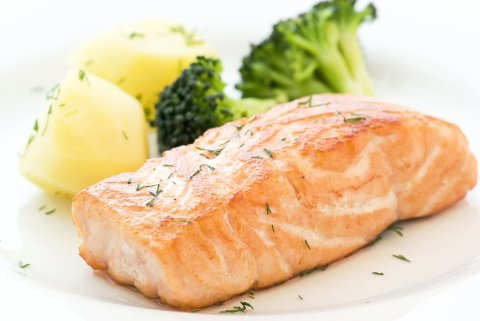 Salmon for breastfeeding Moms