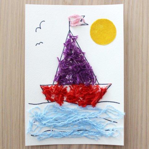 """Картинка к занятию Шерстяная аппликация """"Кораблик"""" в Wachanga"""