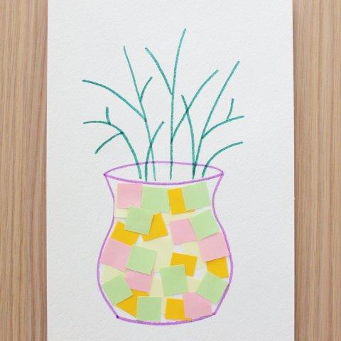 """Картинка к занятию Аппликация """"Весенний букет"""" в Wachanga"""