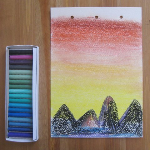 Activity picture for Draw the Sunset in the mountains in Wachanga