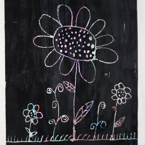 "Картинка к занятию Нарисуйте рисунок в технике ""граттаж"" в Wachanga"