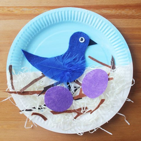 """The Bird Nest"" out of a paper plate"