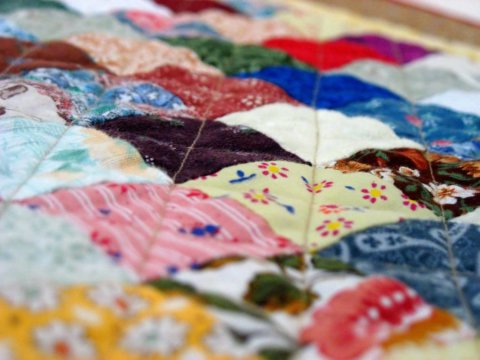 Sew a patchwork rug for your baby