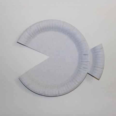изготовление поделки морская рыбка из одноразовой тарелки