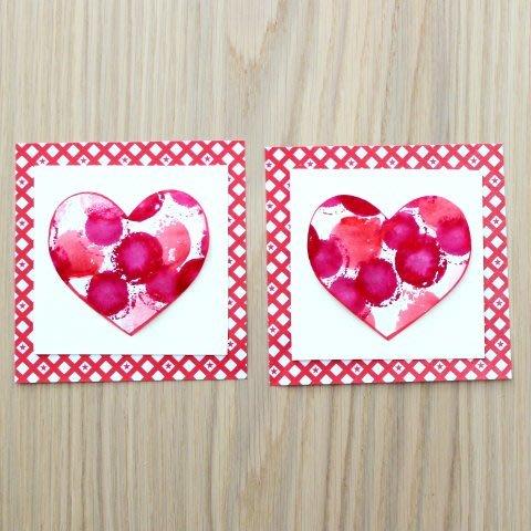 Маленькие открытки с сердечками