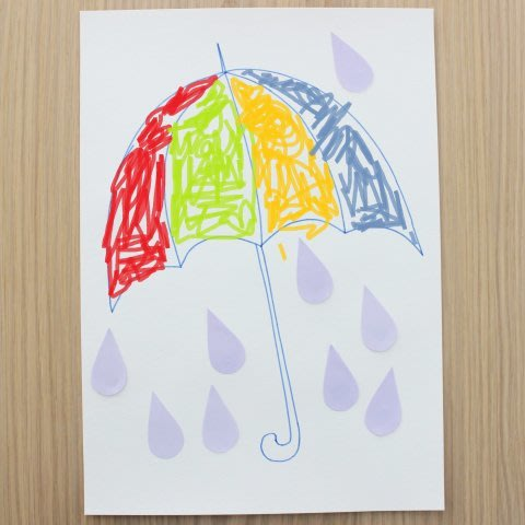 Разноцветный зонтик