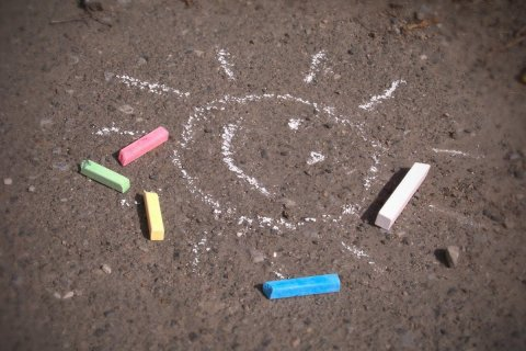 Arrange Funny Outside Chalk Games with your Kids