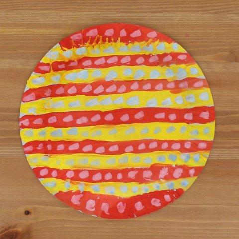 Картинка к занятию Забавная птичка из картонной тарелки в Wachanga