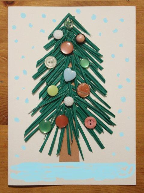 новогодняя открытка с ёлочкой