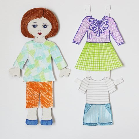 Make a paper doll for your daughter!