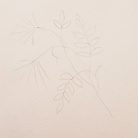 рисунок рябина для аппликации с бумагой