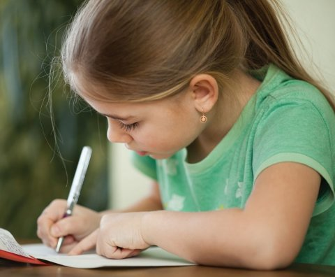 Write a letter with your child for grandparents or relatives!