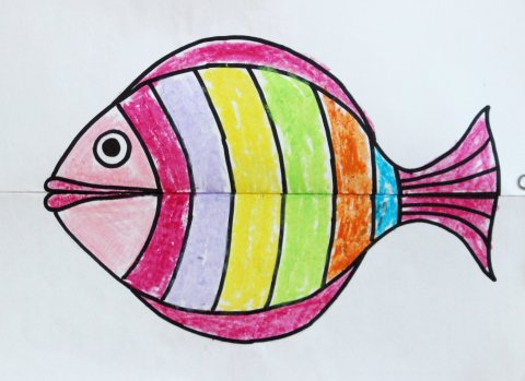 Как сделать зубастую рыбу из бумаги