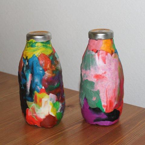 заготовить материал для поделки декоративные бутылки своими руками