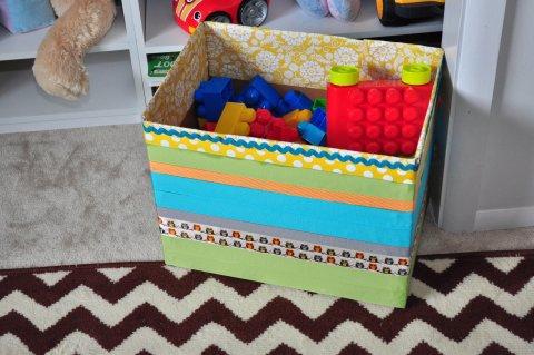 Коробки для игрушек своими руками
