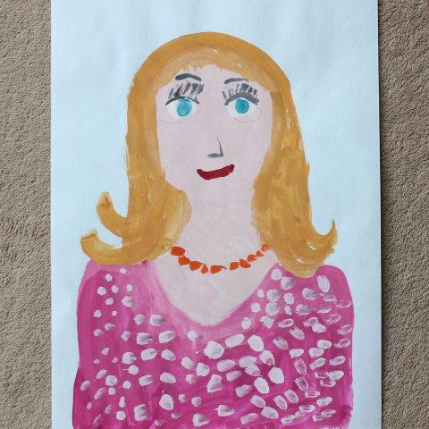 Картинка к занятию Портрет мамы в Wachanga