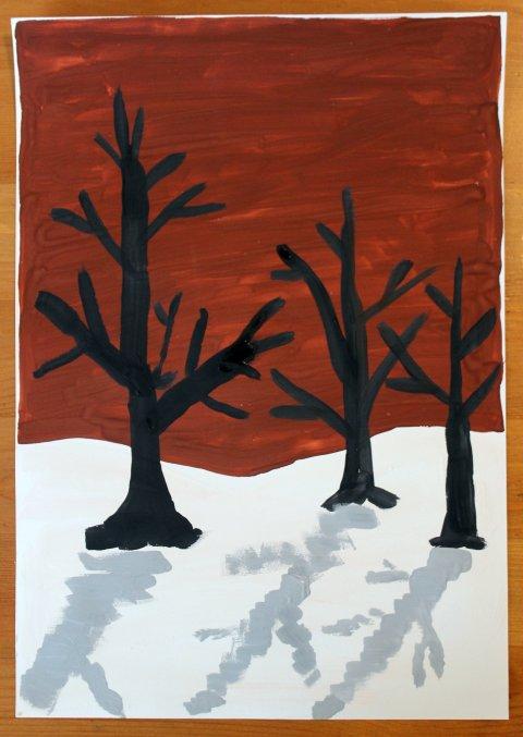 Картинка к занятию Рисуем зимний пейзаж в Wachanga