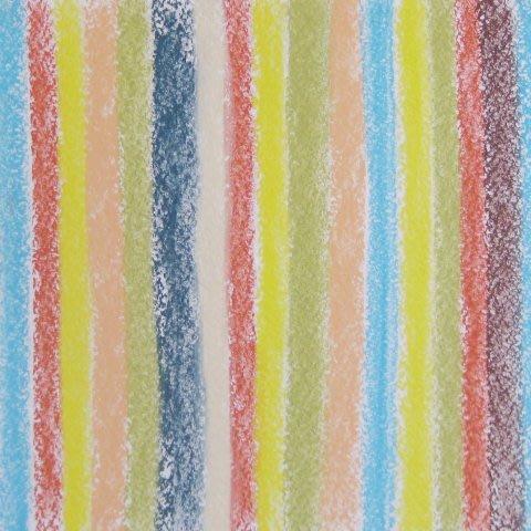 Нарисуйте вместе с ребенком полосатое одеяло с помощью пастели