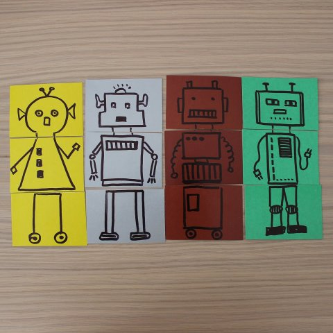 разноцветные пазлы своими руками с ребенком детское творчество